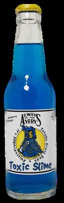 Avery's Totally Gross Toxic Slime Soda in 12 oz. glass bottles for Sale
