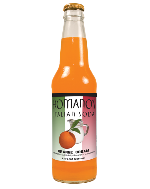 Romano's Orange Cream Italian Soda in 12 oz glass bottles || SummitCitySoda.com