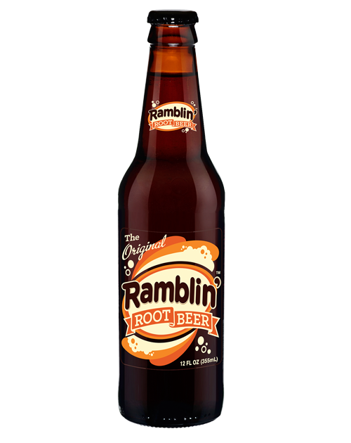 Fresh Ramblin' Root Beer in 12 oz glass bottles from SummitCitySoda.com