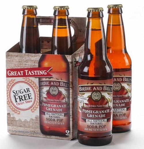 Birdie and Bill's Pomegranate - All Natural Soda Pop in 12 oz glass bottles at SummitCitySoda.com