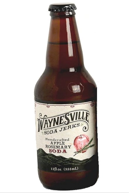 Waynesville Soda Jerks Handcrafted Apple Rosemary Soda in 12 oz glass bottles at SummitCitySoda.com