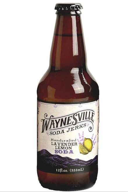 Waynesville Soda Jerks Handcrafted Lavender Lemon Soda in 12 oz glass bottles at SummitCitySoda.com