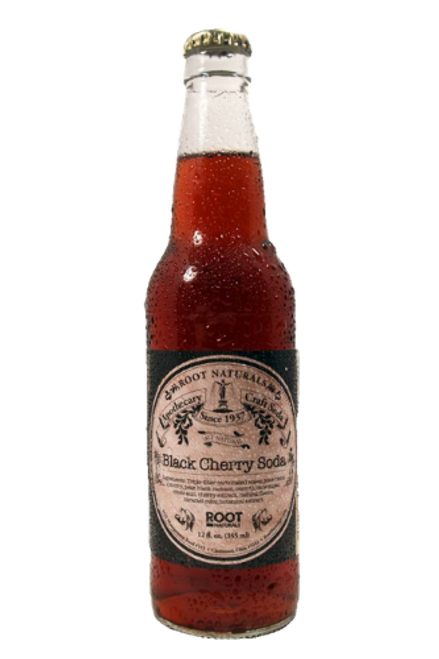 Root Naturals Apothecary Black Cherry Soda - 12 pack of 12 oz glass bottles at SummitCitySoda.com
