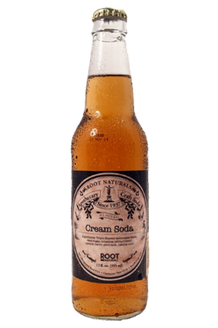 Root Naturals Apothecary Cream Soda - 12 pack of 12 oz glass bottles at SummitCitySoda.com