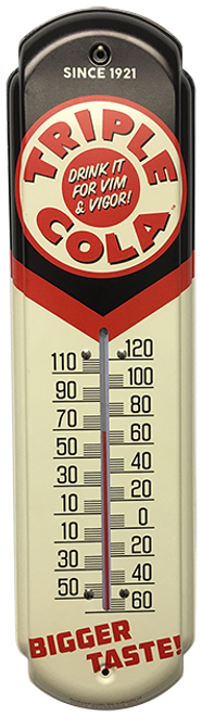 Triple Cola Vintage Thermometer at SummitCitySoda.com