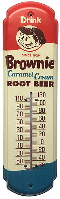 Brownie Caramel Cream Root Beer Vintage Thermometer from SummitCitySoda.com