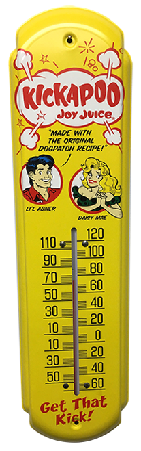 Kickapoo Joy Juice Vintage Thermometer from SummitCitySoda.com