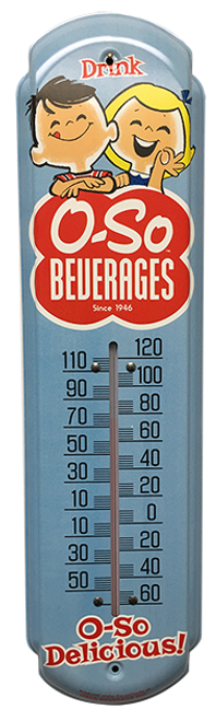 O-So Beverages Vintage Thermometer from SummitCitySoda.com