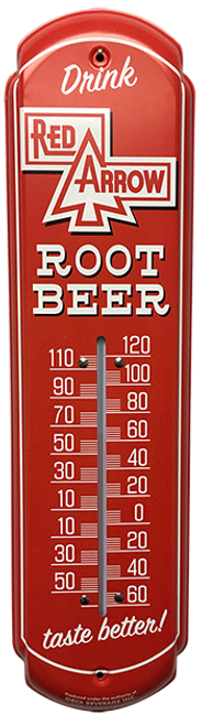 Red Arrow Root Beer Vintage Thermometer from SummitCitySoda.com
