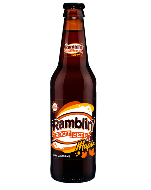 Fresh Ramblin' Maple Root Beer in 12 oz glass bottles from SummitCitySoda.com
