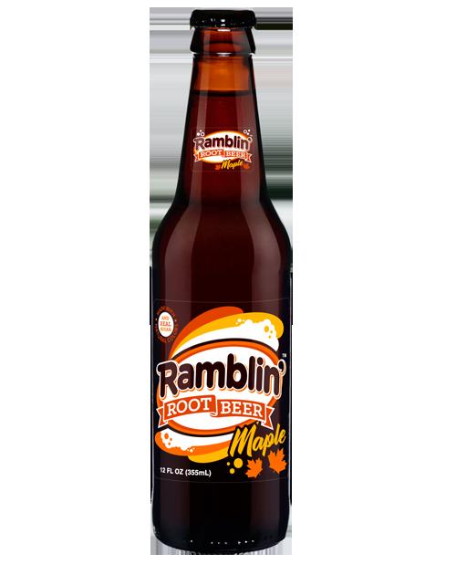 Fresh Ramblin' Maple Root Beer in 12 oz glass bottles from SummitCitySoda.com