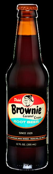 Brownie Caramel Root Beer in 12 oz. glass bottles for Sale