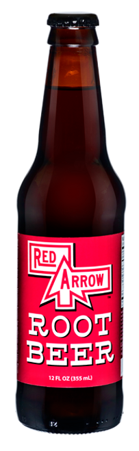 Red Arrow Root Beer in 12 oz. glass bottles for Sale