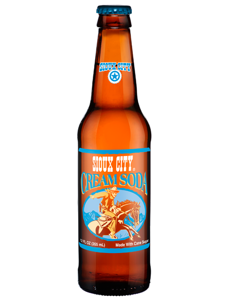 Sioux City Cream Soda in 12 oz. glass bottles for Sale from SummitCitySoda.com