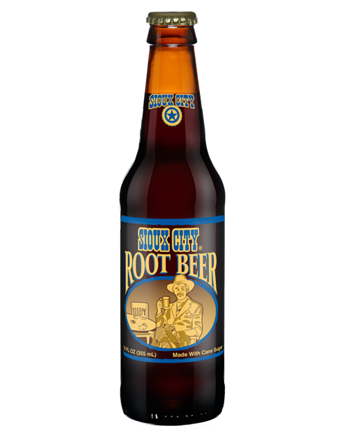 Sioux City Root Beer in 12 oz. glass bottles for Sale from SummitCitySoda.com