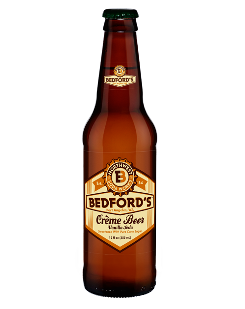 Bedford's Vanilla Creme Soda in 12 oz. glass bottles for Sale from SummitCitySoda.com
