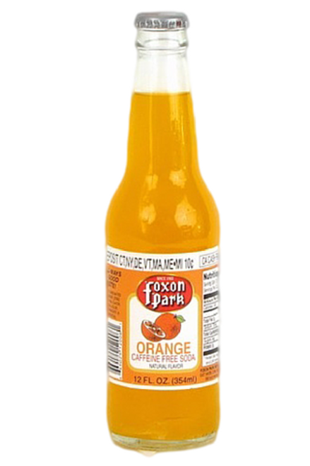 Foxon Park Orange Soda in 12 oz. glass bottles for Sale at SummitCitySoda.com