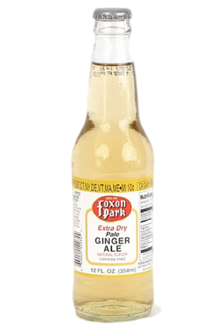 Foxon Park Pale Extra Dry Ginger Ale in 12 oz. glass bottles for Sale at SummitCitySoda.com