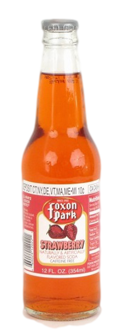 Foxon Park Strawberry Soda in 12 oz. glass bottles for Sale