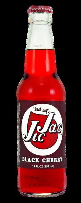 Jic Jac Black Cherry Soda in 12 oz. glass bottles for Sale