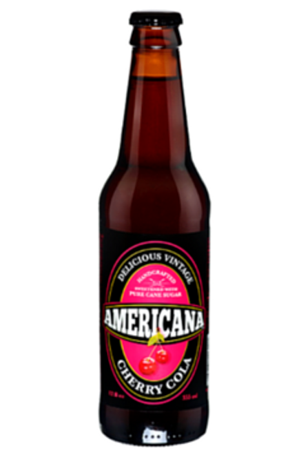 Americana Cherry Cola in 12 oz. glass bottles for Sale