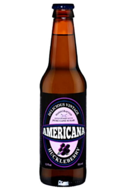 Americana Huckleberry Soda in 12 oz. glass bottles for Sale