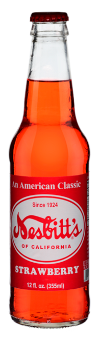 Nesbitt's Vintage Strawberry Soda in 12 oz. glass bottles for Sale