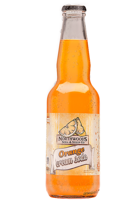 Northwoods Orange and Cream Soda in 11.5 oz. glass bottles for Sale at SummitCitySoda.com