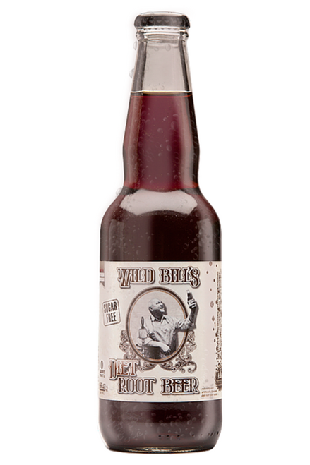 Northwoods Wild Bill's Diet Root Beer in 11.5 oz. glass bottles for Sale at SummitCitySoda.com