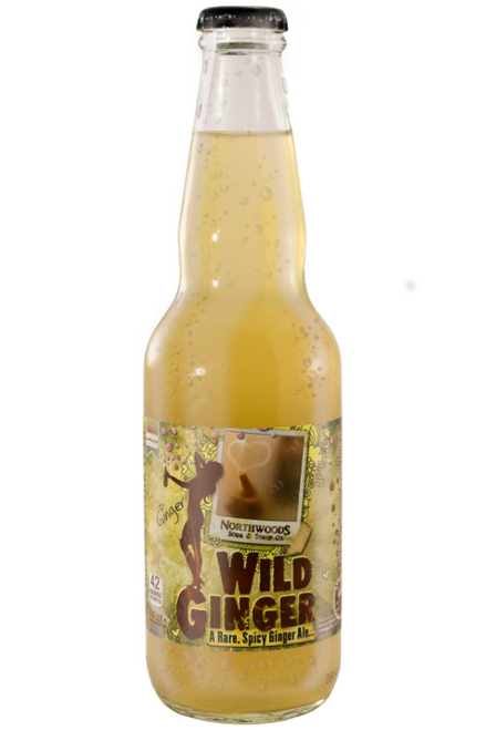 Northwoods Wild Ginger Ale in 11.5 oz. glass bottles for Sale
