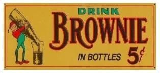 Drink Brownie Root Beer Soda Vintage Sign