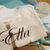 Personalised miniME matching siblings t-shirt and baby body suite with initial and name.