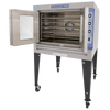 Bakers Pride GDCO-G1 Full Size One (1) Deck Stainless Steel Cyclone Series Gas Convection Ovens | Single-Stacked Pizza Ovens with Thermal Glass, Synchronized Doors & Energy Star 60000 BTU