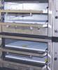 Interior of a Peerless CW62PSC 2 Twin Decks Floor Model Gas Pizza Oven
