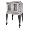 Bakers Pride BCO-G1 Full Size One (1) Deck Stainless Steel Cyclone Series Gas Convection Ovens | Single-Stacked Pizza Ovens with Thermal Glass & Independent Doors 60000 BTU