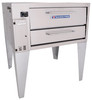 """Bakers Pride 151 One 8"""" Deck Height Stubby-Shallow Depth Stainless Steel Super Deck Series Commercial Gas Pizza Ovens 