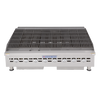 "Bakers Pride BPHCB-2448i Eight Radiant Heavy Duty Stainless Steel Countertop Gas Charbroilers | Char Broiler Grills with 48""W x 21.5""D Broiling Area and 8 Cast-Iron Radiants 160000 BTU"