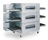 """Lincoln 1623-000-U Single, Double or Triple Deck Impinger Low Profile Electric Conveyor Pizza Ovens with 40"""" Long Baking Chamber and 32 inch Wide Conveyor Belt Per Oven 120/240V   1, 2 or 3-Stacked Ovens"""