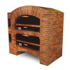 Marsal MB-60 Stacked - MB Series Brick Lined Gas Deck Double Pizza Oven