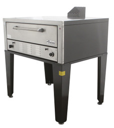 """Peerless CW41P Gas Pizza Ovens with One 7"""" High Deck, Pizza Stone and 42""""W x 32""""D Hearth Deck Interior 