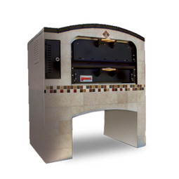 "Marsal MB-42 Single 1-Stacked One 36"" x 42"" Baking Chamber Brick-Lined Commercial Gas Pizza Ovens 