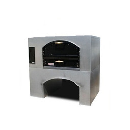 "Marsal MB-60 Single 1-Stacked One 36"" x 60"" Baking Chamber Brick-Lined Commercial Gas Pizza Ovens 