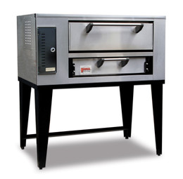"Marsal SD-236 Single One 7""H x 24"" x 36"" Baking Chamber Slice Series Commercial Stackable  Single Deck Gas Pizza Ovens 