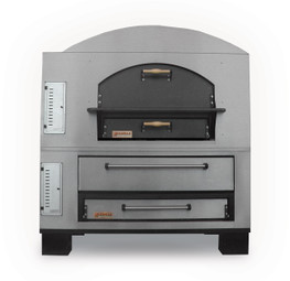 """Marsal WF42/MB42 Stacked - Two-Stacked (WF 36"""" x 36"""" & MB 36"""" x 42"""" Baking Chambers) Brick-Lined Commercial Combo Wave Flame Gas-Fired Pizza Ovens   Double Deck Ovens with WF 36"""" x 36"""" & MB 36 inch x 42 inch Cooking Surfaces 220,000 BTU"""