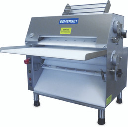 Somerset CDR-2000M All-In-Front Compact Electric Countertop Pizza or Dough Rollers / Double Pass - Front Operated with Metallic Rollers