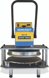 "Somerset SDP-750 18"" Manual Compact Tabletop Pizza or Bread Dough Presses"