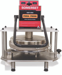 "Somerset SDP-850 18"" Stainless Steel Manual Dual Heat Tortilla Dough Presses"