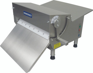 "Somerset CDR-500F Electric Countertop Dough and Fondant Sheeters with 20"" Synthetic Rollers / Side-Operated - Single Pass"