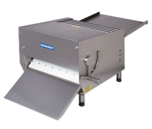 "Somerset CDR-700 Heavy Duty Electric Countertop Dough Sheeters with 20"" Synthetic Rollers / Single Pass"