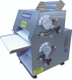 "Somerset CDR-1100 Dough Rollers and Sheeters / Double Pass - Front Operated with 11"" Metallic Rollers"